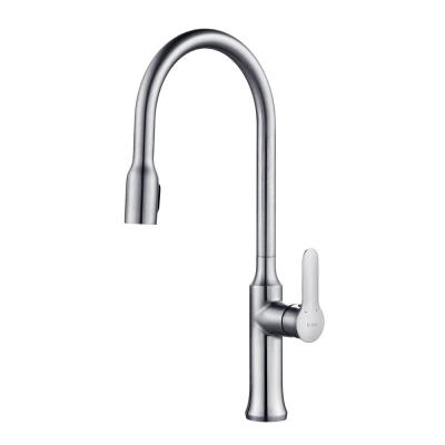 KRAUS Nola Single-Handle Concealed Pull-Down Kitchen Faucet with Dual-Function Sprayer in Chrome