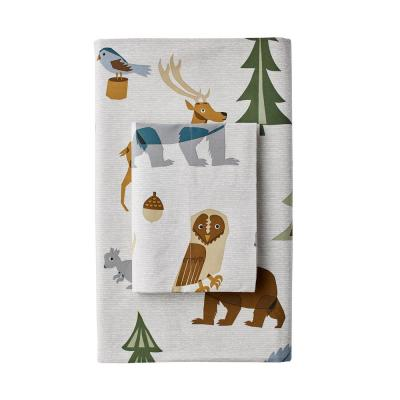 Night Forest 200-Thread Count Cotton Percale Pillowcase (Set of 2)