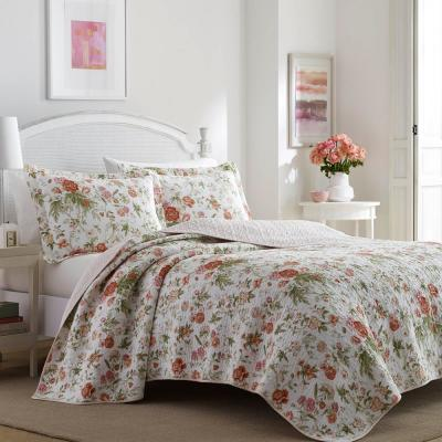 Breezy Floral Cotton Quilt Set