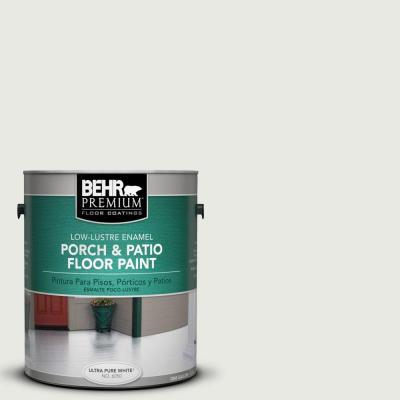 1-gal. #PFC-66 Ice White Low-Lustre Porch and Patio Floor Paint