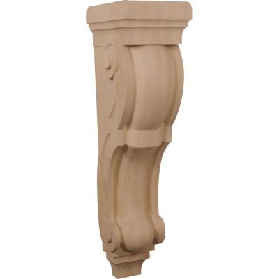 Ekena Millwork 10 in. x 9 in. x 34 in. Unfinished Wood Alder Super Jumbo Traditional Corbel