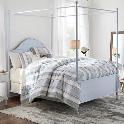 Hickston 5-Piece Steel Blue Stripe Comforter Set