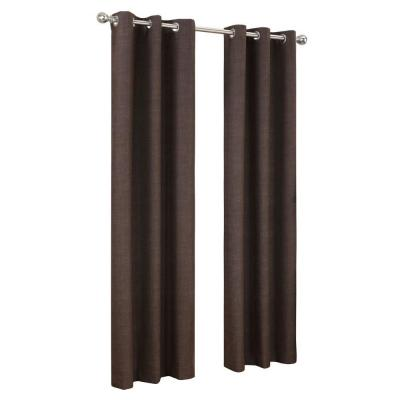 Chocolate Tom Thermal Lined Curtain Panel, 40 in. W x 84 in. L Product Photo