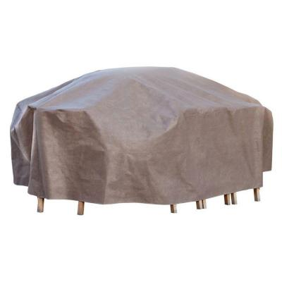 Duck Covers Elite 96 in. L Rectangle/Oval Patio Table and Chair Set Cover with Inflatable Airbag to Prevent Pooling