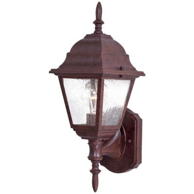 the great outdoors by Minka Lavery Wall-Mount 1-Light Outdoor Antique Bronze Lantern