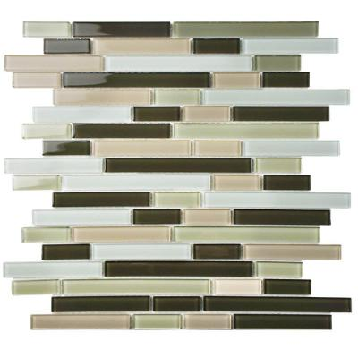 Spectrum Piano Chaparral 11-3/4 in. x 11-3/4 in. x 4 mm Glass Mosaic Tile Product Photo