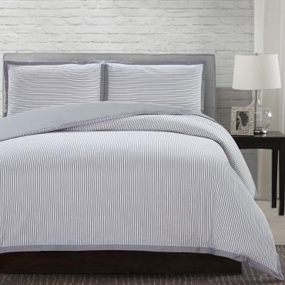 Navy Stripe Comforter