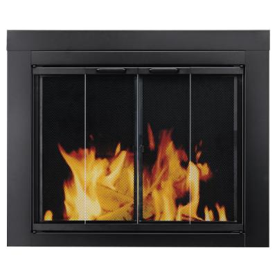 Pleasant Hearth Ascot Large Glass Fireplace Doors