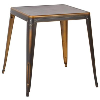 Bristow Antique Copper Metal Accent Table