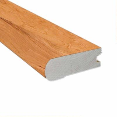 American Cherry Natural 0.81 in. Thick x 2-3/4 in. Wide x 78 in. Length Flush-Mount Stair Nose Molding Product Photo