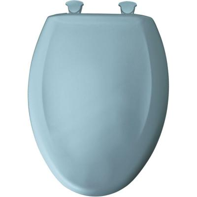 Bemis Elongated Closed Front Toilet Seat In Twilight Blue