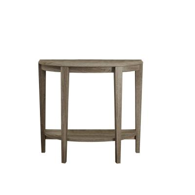 Dark Taupe Reclaimed-Look 36 in. L Console Accent Table