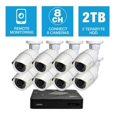 Freedom Series 8-Channel 1080p 2TB Network Video Recorder with (8) 1080p Bullet Cameras and 100 ft. Night Vision Product Photo