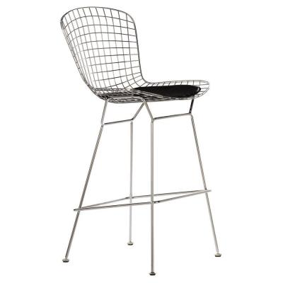 James 44 in. H Chrome Bar Stool Product Photo
