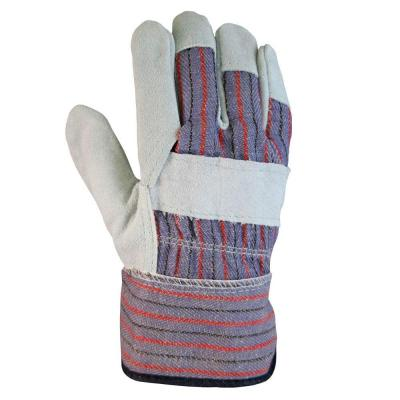 Firm Grip Leather-Palm Large Gloves (3-Pairs)