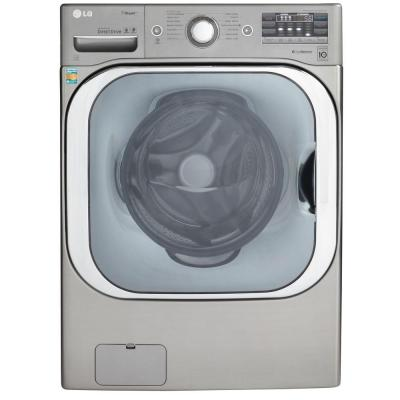 LG Electronics 5.2 DOE cu. ft. High-Efficiency Front Load Washer with Steam in Graphite Steel, ENERGY STAR