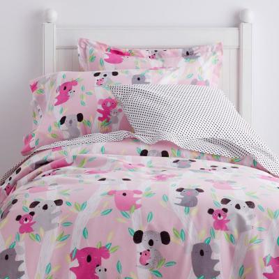 Kuddly Koalas 200-Thread Count Organic Cotton Percale Duvet Cover