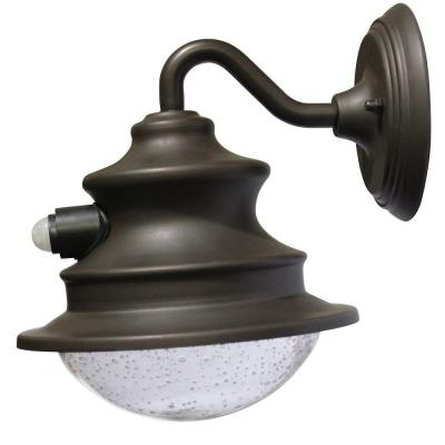 Barn Solar Brown Outdoor Wall Light with Motion Sensor