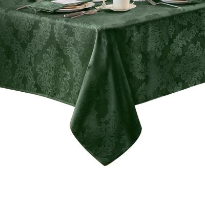 Elrene 60 in. W x 102 in. L Elrene Barcelona Damask Fabric Tablecloth
