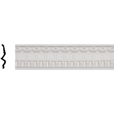 3-7/8 in. x 5 in. x 96-1/4 in. Polyurethane Dentil and Leaf Crown Moulding Product Photo