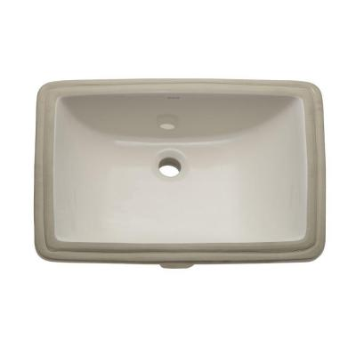 Classically Redefined Rectangular Undermount Bathroom Sink in Biscuit Product Photo