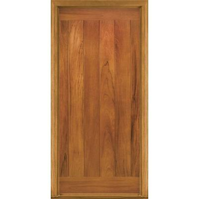 36 in. x 80 in. AvantGuard Flagstaff Finished Smooth Fiberglass Prehung Front Door with No Brickmold Product Photo