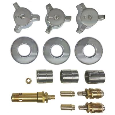 3 Valve Rebuild Kit for Tub and Shower with Chrome Handles for Eljer Product Photo