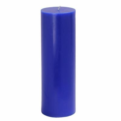 Zest Candle 3 in. x 9 in. Blue Pillar Candles Bulk (12-Case)