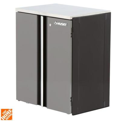 Husky 27 in 2 door base cabinet 27bc201bp thd the home Home depot husky garage cabinets