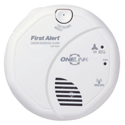 first alert onelink wireless interconnect carbon monoxide detector with voice. Black Bedroom Furniture Sets. Home Design Ideas