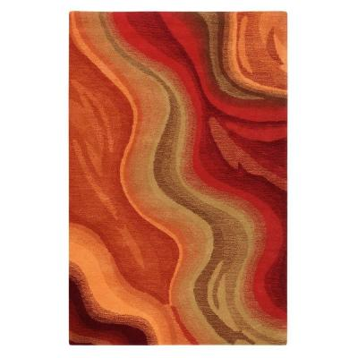 Home Decorators Collection Rush Red and Terra 8 ft. x 11 ft. Area Rug