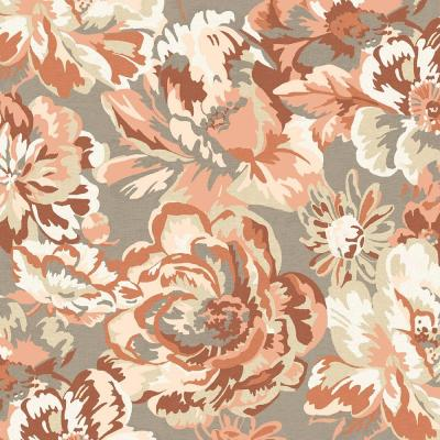 Terracotta Floral Fabric by the Yard