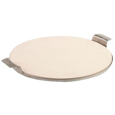 15 in. Round Pizza Stone with Solid Stainless Tray