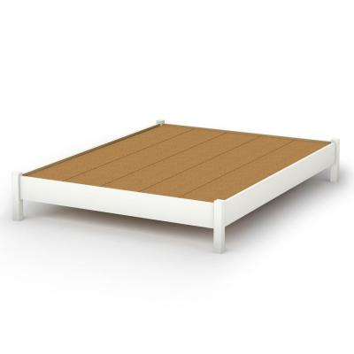 Raised Platform Bed : ... Furniture Bedtime Story Queen-Size Elevated Platform Bed in Pure White