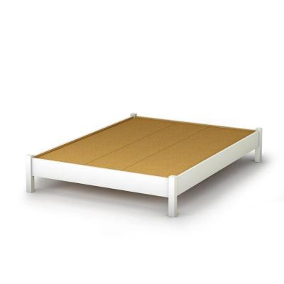Raised Platform Bed : ... Full-Size Elevated Platform Bed in Pure White-3050204 - The Home Depot