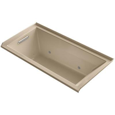 Underscore 5 ft. Whirlpool Tub with Left Drain in Mexican Sand Product Photo