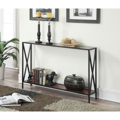 Convenience Concepts Tucson Black and Cherry Console Table