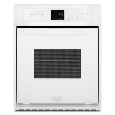 24 in. Single Electric Wall Oven Self-Cleaning in White