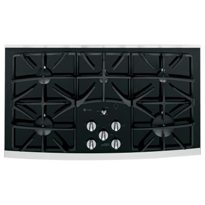 GE Profile 36 in. Gas on Glass Cooktop in...
