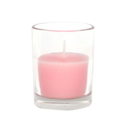 Zest Candle 2 in. Light Rose Round Glass Votive Candles (12-Box)