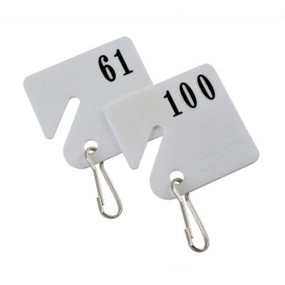 Buddy Products Plastic Key Tags Numbered 61 to 100