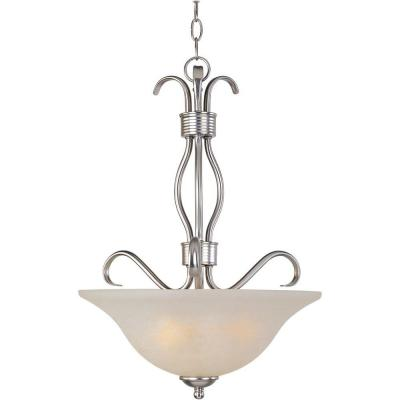 Basix EE 3-Light Satin Nickel Invert Bowl Pendant