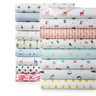Olive Green Oxford Stripe Bed Sheet Set