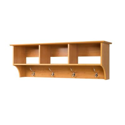 Prepac Sonoma Wall-Mounted Coat Rack in Maple