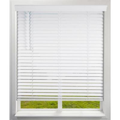 Cordless 2 in. Room Darkening Faux Wood Blinds