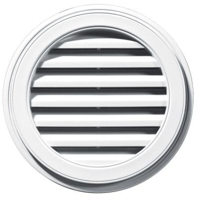 Builders Edge 22 in. Round Gable Vent in White