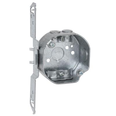 3-1/2 in. Octagon Box 1-1/2 in. Deep with NMSC Clamps and TS Bracket (25-Pack) Product Photo