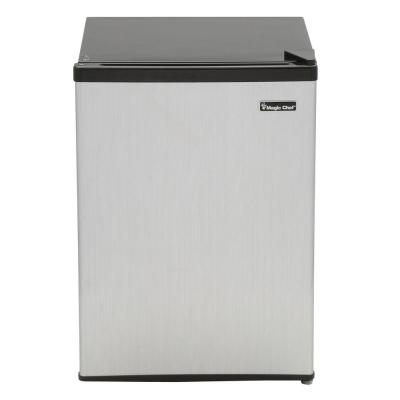 Magic Chef 2.4 cu. ft. Mini Refrigerator in Stainless Look