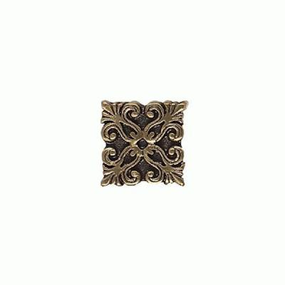 Daltile Massalia Bullion 1 in. x 1 in. Metal Frieze Button Wall Tile-DISCONTINUED