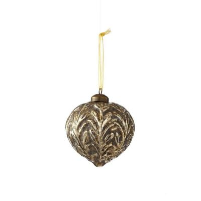 Chateaux Collection 4.5 in. Glass Onion Ornament (4-Pack)